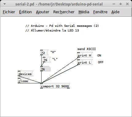 Communication série : Arduino et Pure Data - Wiki de Reso